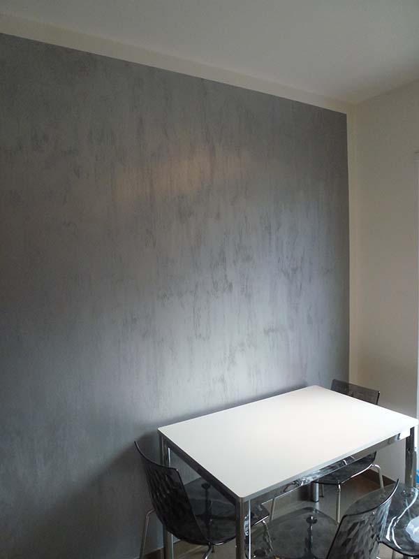 Parete effetto cemento elegant pareti effetto cemento in - Parete effetto cemento ...